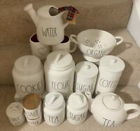 NEW RAE DUNN CANISTER COFFEE TEA SUGAR FLOUR COOKIES SALE/PEPPER TEAPOT ORGANIC