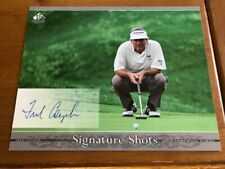 Fred Couples 2005 Signed SP Signature Shots 8 x 10 Upper Deck Card