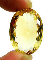 30.20 Ct Natural Citrine Loose Gemstone Oval Cut Beautiful Stone - 10474