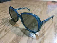 CORNING WOMENS Aqua Blue Green SUNGLASSES BIG EYE MODEL 4045S 1970'S ERA