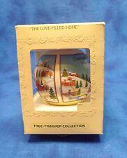 1979 Hallmark The Love Filled Home Ecru Satin Ball Ornament Hearts Love Home NIB