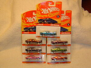 HOT WHEELS CLASSICS SERIES 1 1968 MUSTANG LOT OF 7 DIFFERENT COLORS