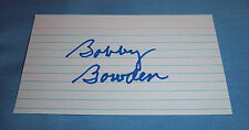 Florida State Bobby Bowden Signed Autographed Index Card HOF 2006 A