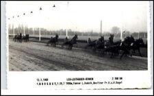 Foto-AK Leo Leuthäuser Pferde-Rennen Trabrennen 1969 alte Ansichtskarte