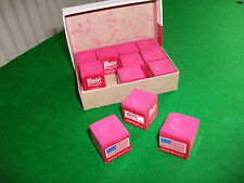 Masters Red Snooker/Pool Chalk Box of 12