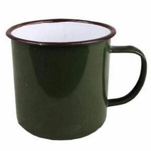 240ml Retro Style Enamel Cup Mug for Drinking Coffee Bear Tea Camping Hiking