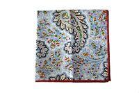 Frederick Thomas white & multicoloured paisley pocket square handkerchief FT2135