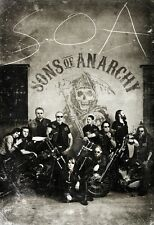 "SONS OF ANARCHY NEW TV Series Art Silk Fabric Poster 11""x17"""