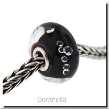 Authentic Trollbeads Glass 81002 The Diamond Bead, Black :1