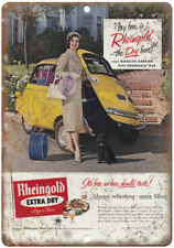 """1958 Madelyn Darrow Rheingold Beer Ad 10"""" x 7"""" Reproduction Metal Sign E235"""