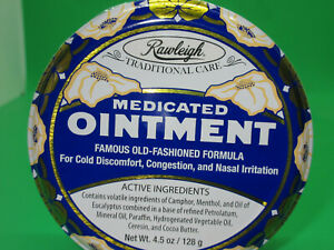 Rawleigh Medicated Ointment, 4.5 Oz Round Tin (Brand New)
