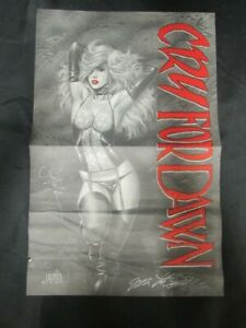 """Cry For Dawn 11x17"""" Promo Poster of comic 1991 Joseph Michael Linsner Signed 1"""