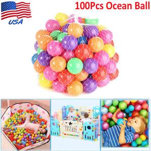 100PCS 5.5cm Secure Baby Kid Pit Toy Swim Fun Colorful Soft Plastic Ocean Ball