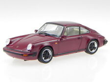 Porsche 911 Carrera 3.2 burgundred 1984 diecast modelcar Atlas 1:43