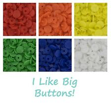 SIZE 16 - 300 KAM Snaps Plastic/Resin - Doll Clothes/Ribbon Projects (6 Colors)