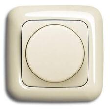 EBROM® Set LED Drehdimmer 1001 + BJ Rahmen 2511-212 und Scheibe DURO Cremeweiß