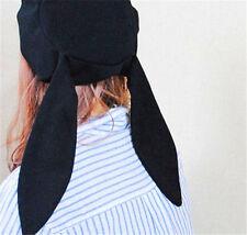 Japanese style Lolita Women Girl Kawaii Rabbit Ear Hat Beret Black Painter Hat
