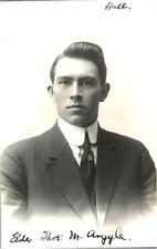 More details for antique mormon portrait rppc postcard elder thos m argyle signed hull