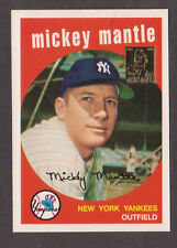 1996 Topps MICKEY MANTLE #9 of 19 1959 Topps Reprint