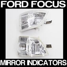 FORD FOCUS PAIR Of Wing Mirror Indicator Lens Repeater Lamp Lights NEW Non OEM