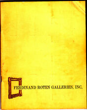 Ferdinand Roten Galleries Catalogue Number Four Original Prints Drawings