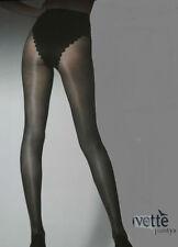 Media panty, collant, pantyhose IVETTE 40den M negro braga silueta made ITALIA