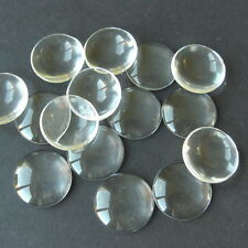 50 CLEAR ROUND CABOCHON GLASS DOME SEALS 16mm