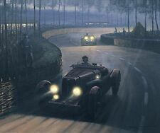 Brackenbury Aston Martin LM20 Le Mans 1935 at Night Print by Roy Nockolds