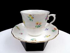"COLCLOUGH CHINA ENGLAND #1581 MULTI FLORAL 2 3/4"" CUP AND SAUCER"