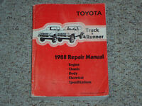 1988 Toyota Truck & 4Runner Factory Shop Service Repair Manual 4WD