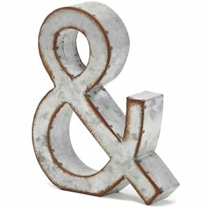 8 In Rustic Letter Wall Decoration & Galvanized Metal Letter for Home Decor