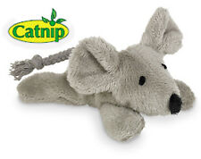 Plüsch Maus 9cm Katzenspielzeug Catnip nachfüllbar Katzenminze Knisterfolie