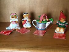 Lucy & Me (Lucy Riggs) Porcelain Teddy Bear figurines Set of 4 Enesco