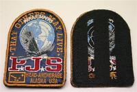 orig. Blau Parajumpers PJS Patch Aufnäher Mantel Jacke Long Klett Logo Emblem