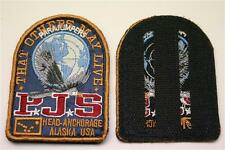 ORIG. azul parajumpers PJS Patch Patch abrigo chaqueta Long velcro logotipo emblema ne