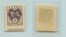 Central Lithuania 🇱🇹 1920 SC 5 mint shifted perforation. rtb3015