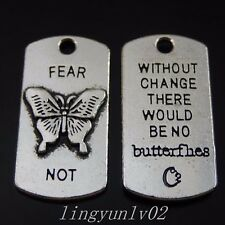 16x Antiqued Silver Butterfly Alloy Pendant Charms Jewelry Finding 50069