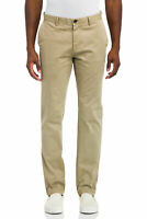 Faherty KHAKI Summit Sueded Straight Fit Trouser, US 35
