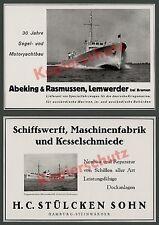 Reklame Werft Abeking & Rasmussen Lemwerder Bremen Yachtbau Seefahrt Marine 1936