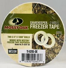 New - 2 Rolls Mossy Oak Gamekeeper Freezer Paper Tape 3/4 in X 1000in