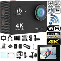 Full HD 1080P 4K Sports Action Camera Wifi SJ4000 Waterproof mini DV DVR Cam U
