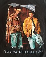 Florida Georgia Line 2018 Concert Tour New T Shirt Large Country Music Band