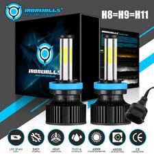 6-Sides H11 H9 LED Headlight Bulb High/Low Beam/Fog Kit 6500K White Free Return