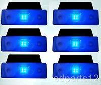6 BLEU LED FEUX DE GABARIT A 12V CARAVANE CHASSIS REMORQUES