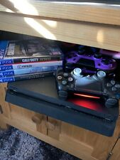 Sony PlayStation 4 Slim 500GB Console 4 Games 2 Controllers Ps4