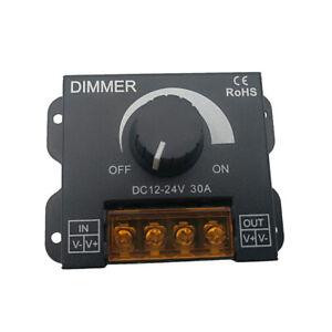 Black 30A DC 12V/24V Led Switch Dimmer Controller For Led Strip Single Color