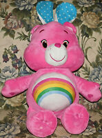 2015 JUMBO EASTER EARS PINK CHEER CARE BEAR RAINBOW PLUSH DOLL FIGURE TOY 24""