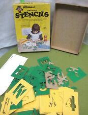 Scribbler'S Stencils Western Publishing alphabet & numbers in box 1979 beat-up