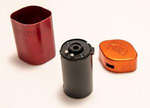 Contax Zeiss Ikon Rangefinder Film Cassette Anodized Aluminum Case Xlnt Cond