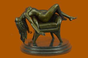 Bronze Sculpture Nude Naked Woman Museum Quality Artwork Figurine Sale Decor NR